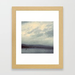 Floating Bridge, Lake Washington Framed Art Print