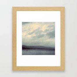 Floating Bridge, Lake Washington Framed Art Print