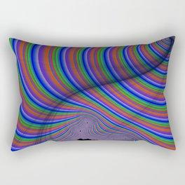 Parking Lot Optical Illusion Rectangular Pillow