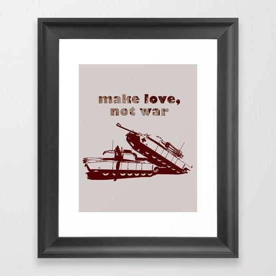 Make love, not war! Framed Art Print