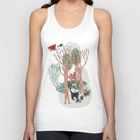 insects Tank Tops featuring A Stick-Insects Dream by Mirisch