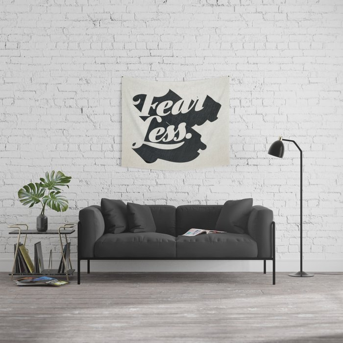 Fear Less Wall Tapestry