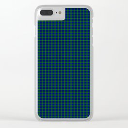 Farquharson Tartan Clear iPhone Case