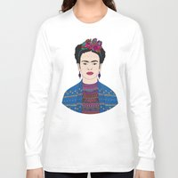 frida kahlo Long Sleeve T-shirts featuring Frida Kahlo by Bianca Green