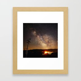 The Salty Raven of Cape Meares Milky Way Framed Art Print