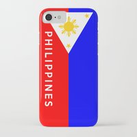 philippines iPhone & iPod Cases featuring flag of Philippines by tony tudor
