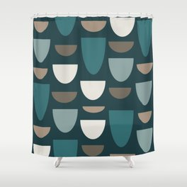 Turquoise Bowls Shower Curtain