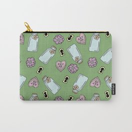 Eat Me,Drink Me - Green Carry-All Pouch