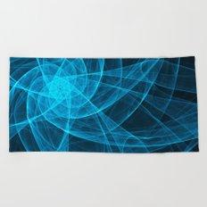 Tulles Star Computer Art in Blue Beach Towel