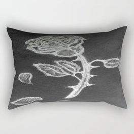 Negative Rose Rectangular Pillow