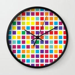 City Blocks - Rainbow #494 Wall Clock