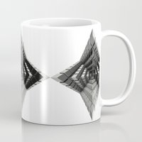 cyberpunk Mugs featuring Time vs. Monolith by Obvious Warrior