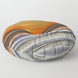Silver and Gold Sunset Floor Pillow