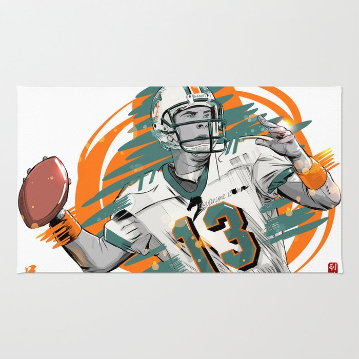 miami collections divided dolphins mat rug broncos passionforgame house