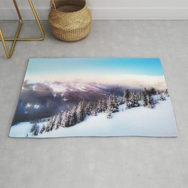 Dreamy morning scene Rug