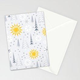 Winter Sunshine Stationery Cards