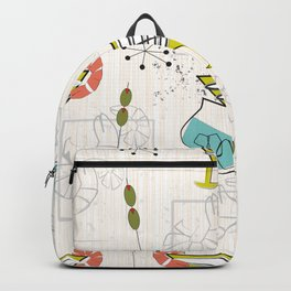 Mid Century Modern Cocktail Hour Backpack