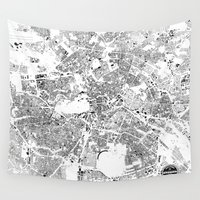 berlin Wall Tapestries featuring BERLIN by Maps Factory