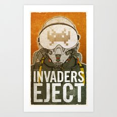 Invaders Eject Art Print