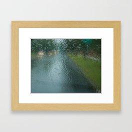 Lights in the Rain Framed Art Print
