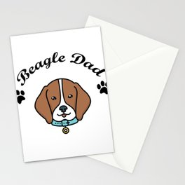 Beagle Dad Funny Love Dog Pet Gift Stationery Cards
