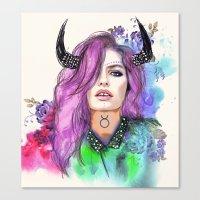 taurus Canvas Prints featuring Taurus by Sara Eshak
