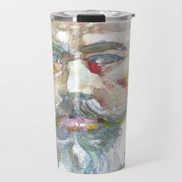 JOHANNES BRAHMS - watercolor portrait.1 Travel Mug