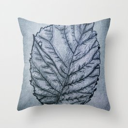 b&w leaf Throw Pillow
