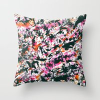 graffiti Throw Pillows featuring graffiti by gasponce