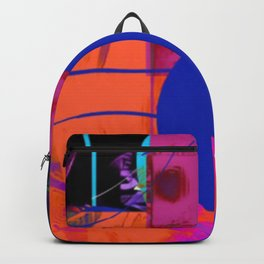 Blue Sticker Abstract Backpack