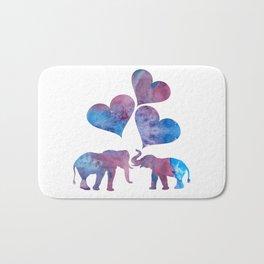 Elephants art Bath Mat