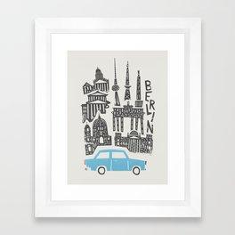 Berlin Cityscape Framed Art Print