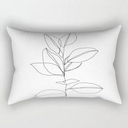 One line plant illustration - Dany Rectangular Pillow