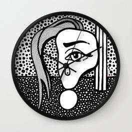 Roy Lichtenstein - Girl with Tear Wall Clock