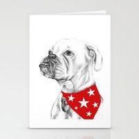 boxer Stationery Cards featuring Boxer by Natasha Maiklem