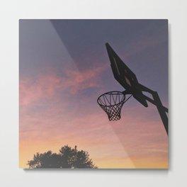 Basketball Sunset Metal Print