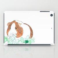 guinea pig iPad Cases featuring Guinea Pig Clover by Elena O'Neill