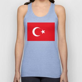 National flag of Turkey, Authentic color & scale Unisex Tank Top