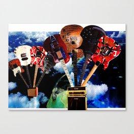 Hot Air Guitar Canvas Print