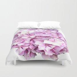 Nantucket Pink Hydrangea Flower Duvet Cover