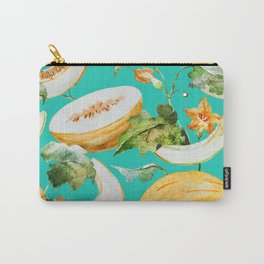 Honeydew Melon Pattern Carry-All Pouch