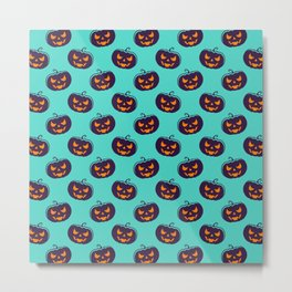 Halloween Cute Pattern Metal Print