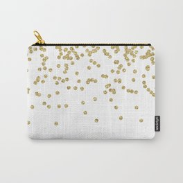 Sparkling golden glitter confetti - Luxury design Carry-All Pouch