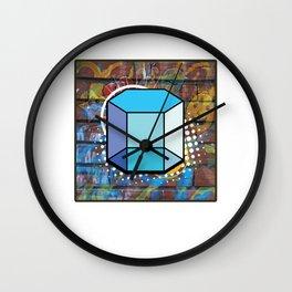 Modern Abstract Geometric Art Hexagonal Prism Isometric 3d Shape Forms Wall Clock