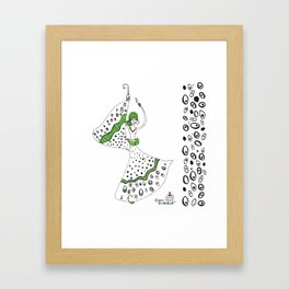 Maria- Lady Butterfly Framed Art Print