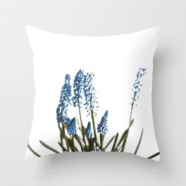 Blue Blossom (Color) Throw Pillow