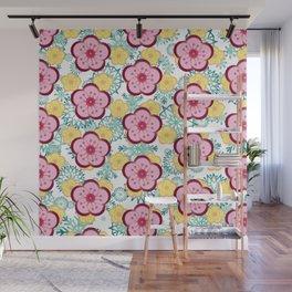 Sweet Plum Flower with Jade Snow Flake Wall Mural