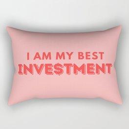 I Am My Best Investment Rectangular Pillow