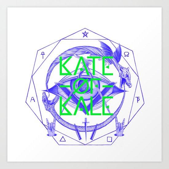 Kate of Kale's All Seeing Ch**bEye. Art Print