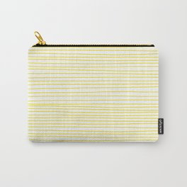Yellow Lines dancing striped Carry-All Pouch